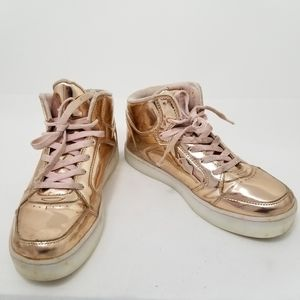 Skechers women size 7 (youth 5) gold hi-to…